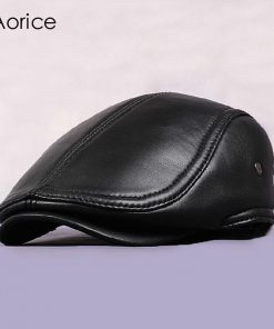 Aorice 100% Genuine Leather Golf Cap - Golf Hats and Apparel 0b234e18f99